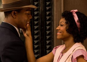 """Stephan James (left) and Shanice Banton star in the Jesse Owens biopic """"Race."""" (Focus Features)"""