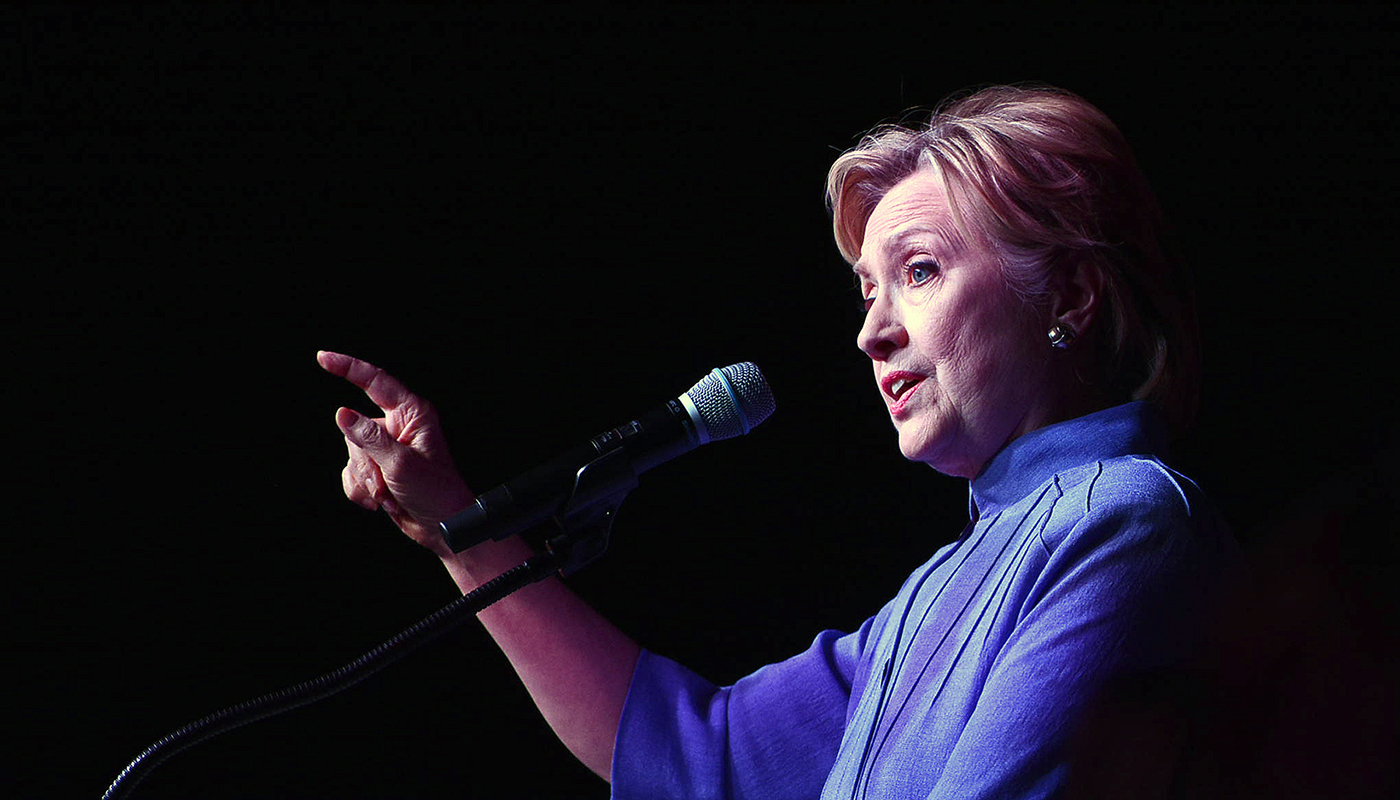 Former Secretary of State Hillary Clinton addresses the Women's International Luncheon at the Rainbow PUSH 45th Annual Convention in Chicago. (Worsom Robinson/Chicago Defender)