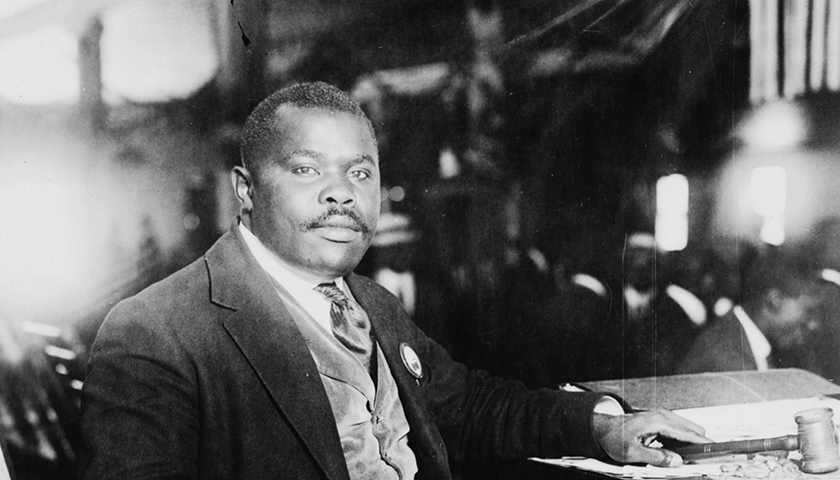 "In a recent press statement, the Honorable Minister Louis Farrakhan called Marcus Garvey ""the father of the largest movement thus far for the liberation of our people."" (Library of Congress/Wikimedia Commons)"