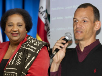 Assemblywoman Shirley Weber, D-San Diego and Assemblyman Kevin McCarty, D-Sacramento co-creators of AB 931