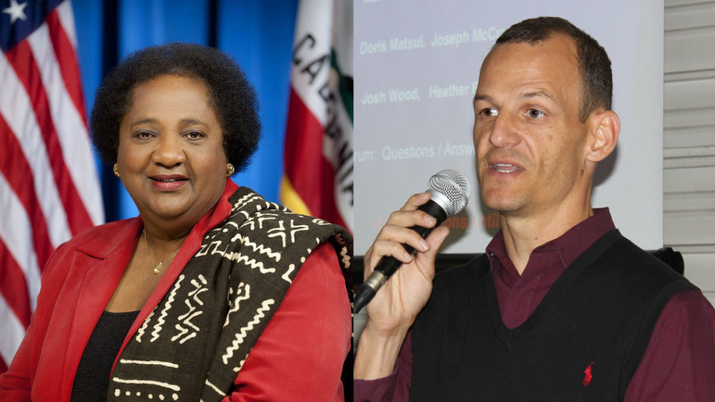 Assemblywoman Shirley Weber, D-San Diego and Assemblyman Kevin McCarty, D-Sacramento co-creators of AB 931