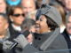 """Aretha Franklin sings """"My Country 'Tis Of Thee'"""" at the U.S. Capitol during the 56th presidential inauguration in Washington, D.C., Jan. 20, 2009."""