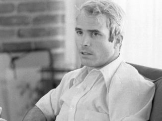 Photo of John McCain during an interview, April 24, 1974. Collection of the Library of Congress. Photographer: Thomas J. O'Halloran.