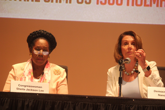 Congresswoman Jackson Lee and House Democratic Leader Nancy Pelosi holds press conference