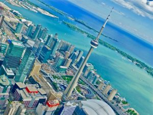 Aerial view of Toronto from Toronto HeliTours's helicopter (Photo by Dwight Brown)