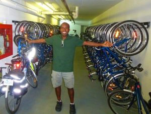 Toronto Bicycle Tours is run by Terrence Eta (Photo by Dwight Brown)