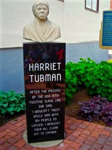 Harriet Tubman Statue in town of St. Catharines (Photo by Dwight Brown)