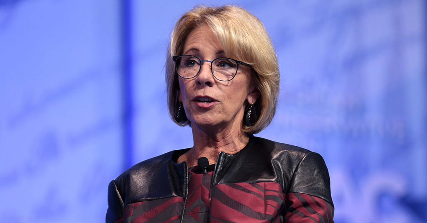 Education Secretary, Betsy DeVos