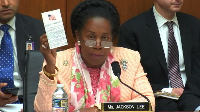 Photo: Courtesy Office of Rep. Shelia Jackson Lee