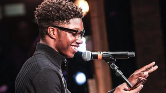 Dontrell Parson of Phelps ACE High School was one of the students chosen to perform at the Kennedy Center after completing his coursework and creative component of the 'Hamilton' curriculum offered in high schools in 14 cities around the country. (Courtesy Photo)