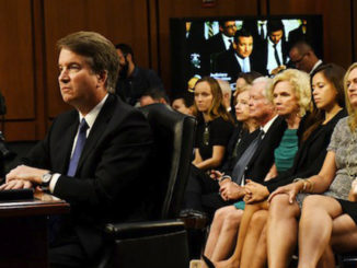 Judge Brett Kavanaugh speaks to members of Congress.