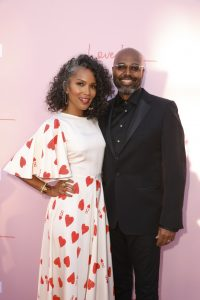 "Mara Brock Akil and Salim Akil and the ""Love Is___"" premiere in Los Angeles. Courtesy of OWN: Oprah Winfrey Network/Photographer: Chris Frawley"