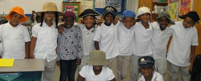 Students of Mary E. Rodman Elementary school, where test scores are making prodigious progress.