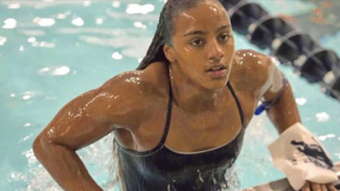 Howard University student and senior swimmer Latroya Pina