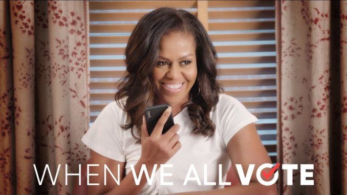 Michelle Obama, Tom Hanks, Janelle Monáe, Chris Paul, Lin-Manuel Miranda, Faith Hill, and Tim McGraw are calling on all of us to register and vote. Register to vote and volunteer at www.whenweallvote.org.