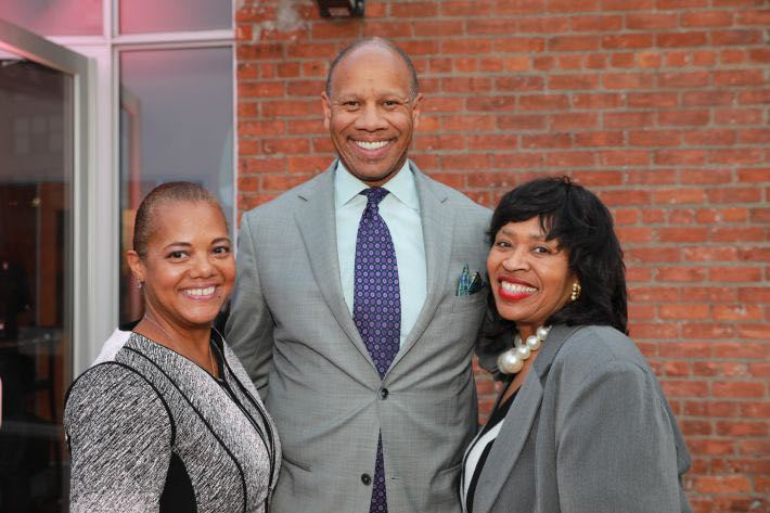 Wright Lassiter with wife Cathy (left), and Detroit City Council President Brenda Jones.