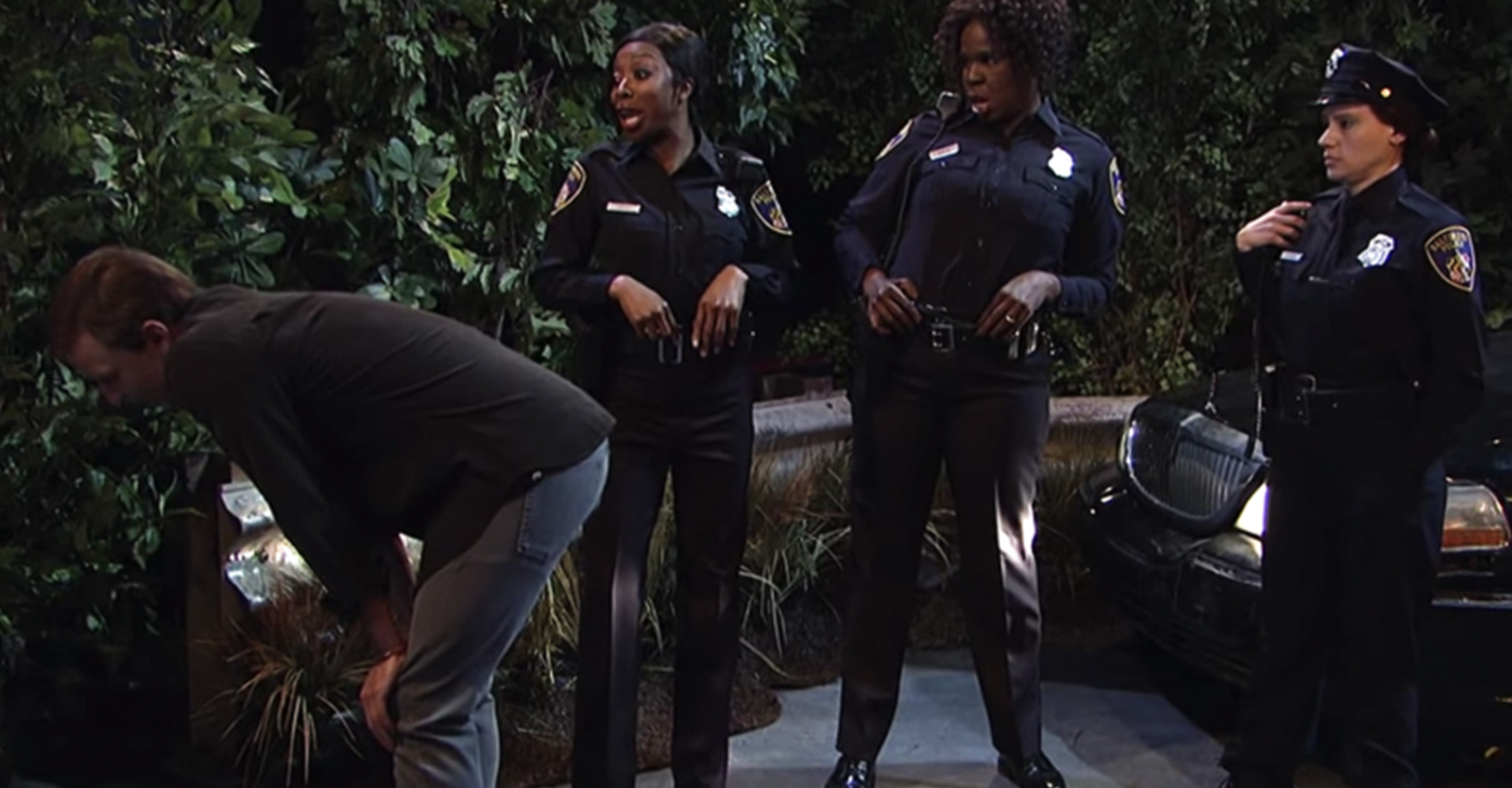 """Saturday Night Live,"" the NBC comedy institution took aim at the Baltimore Police Department with a skit called, ""Thirsty Cops."" (Screengrab)"
