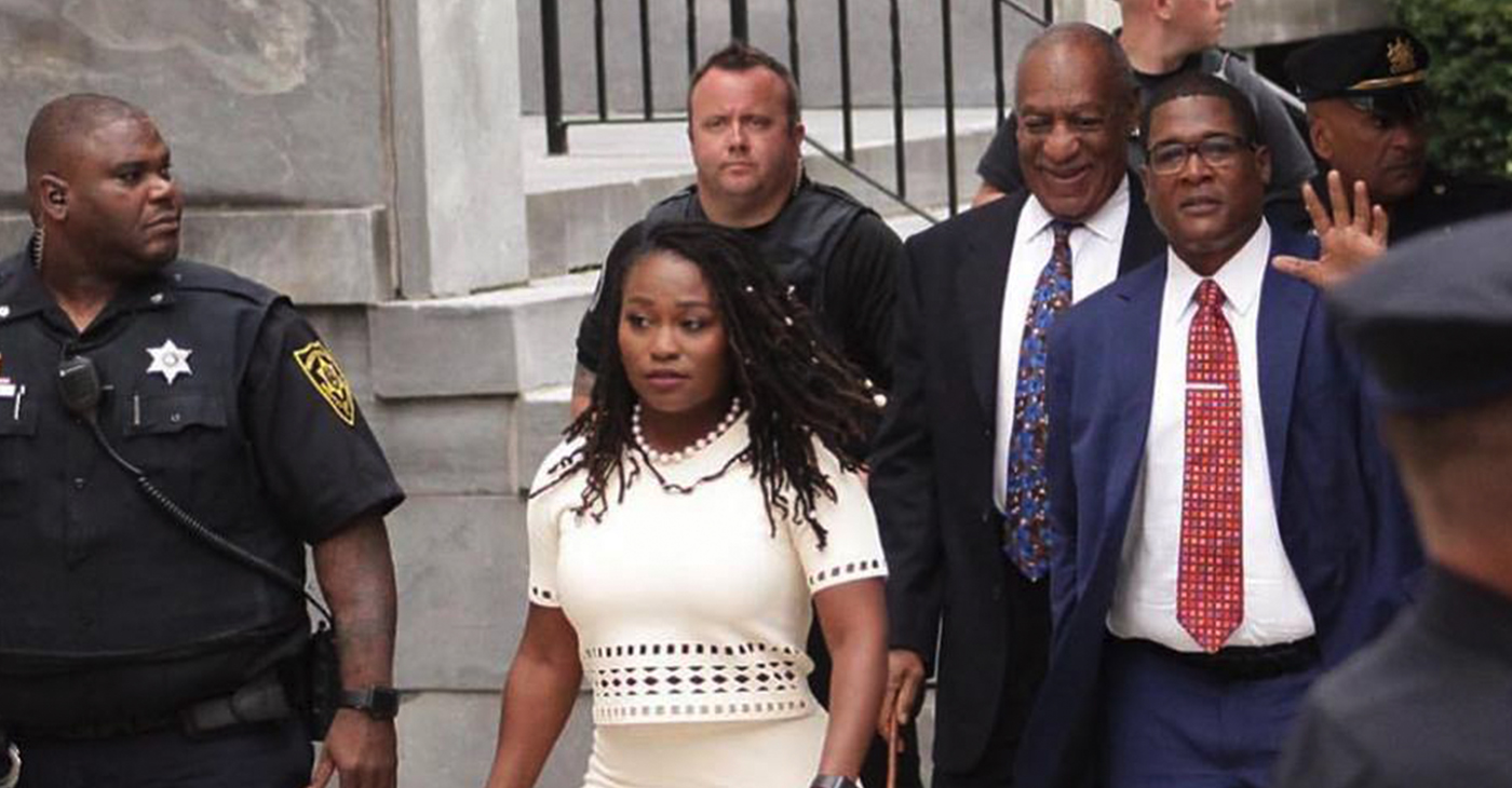 Bill Cosby departs Pennsylvania courthouse following guilty verdict (Facebook)