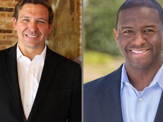 (l-r) Republican Ron DeSantis and Democrat Andrew Gillum