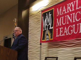 Maryland Gov. Larry Hogan speaks at the Maryland Municipal League's annual fall conference in Annapolis on Oct. 12. (William J. Ford/The Washington Informer)