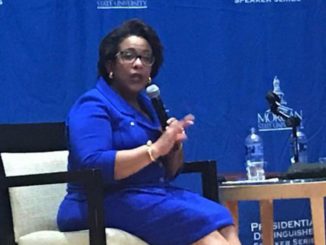 Former U.S. Attorney General Loretta Lynch spoke at Morgan State University on September 24. (Courtesy Photo)