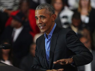 Former president Barack Obama spoke at Detroit Cass Tech High School urging Democrats to vote.