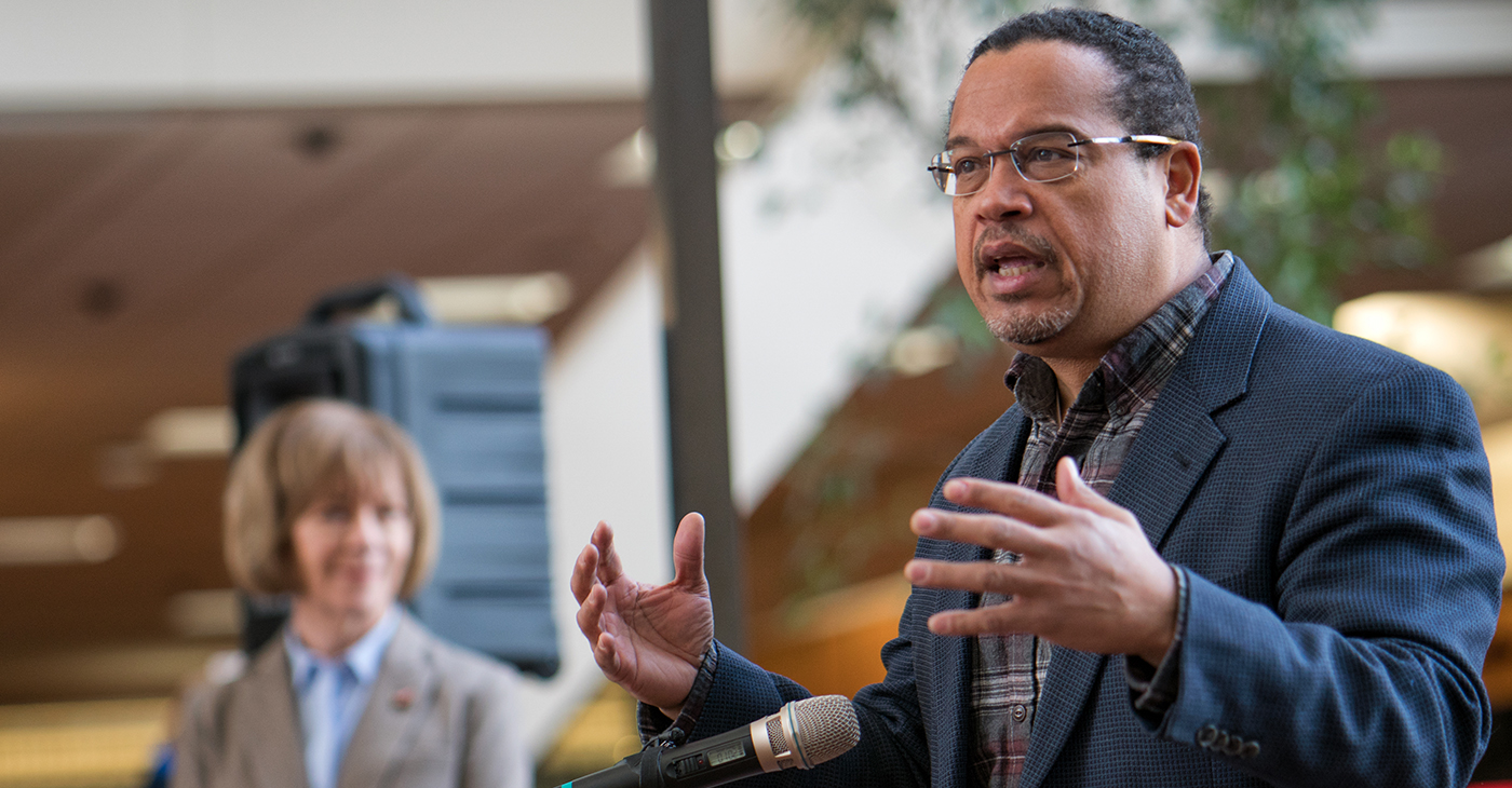 Representative Keith Ellison speaking in support of DACA at Hennepin County Government Center Minneapolis, MN (Photo: Lorie Shaull / Wikimedia Commons)