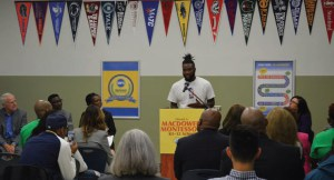 Concordia student, Dominick Snow Pierce, says filing the FAFSA helped him follow his dreams. (Photo by Ana Martinez-Ortiz)