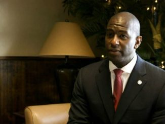 Andrew Gillum (Photo: WGFL) Monday night, Florida Democratic gubernatorial candidate Andrew Gillum returned to his alma mater, the school that sits on the highest of seven hills, Florida A&M University for a midnight rally at the Al Lawson Multipurpose Center. However, Gillum did not come alone.