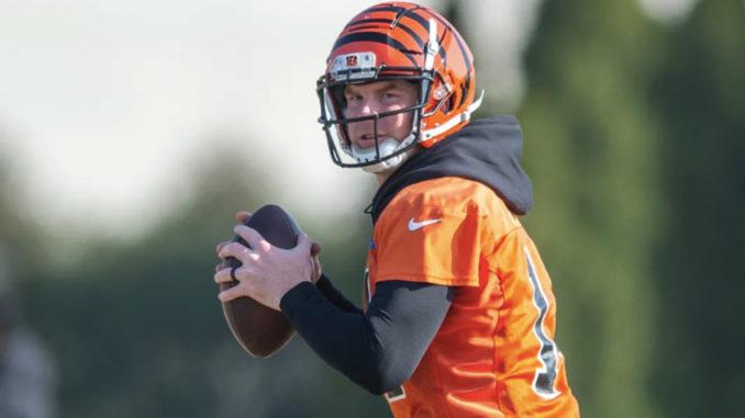 Cincinnati Bengals quarterback Andy Dalton at practice.