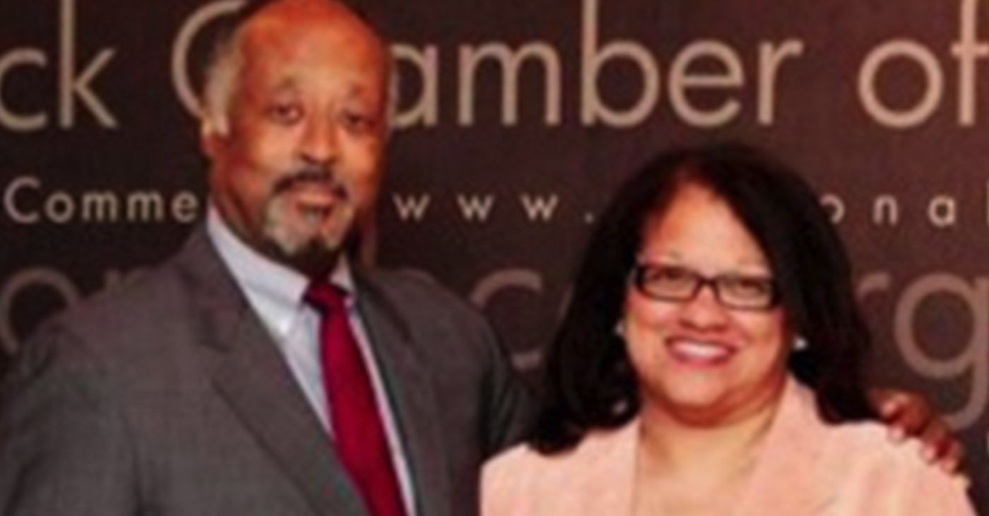 (l-r) Harry C. Alford and Kay DeBow (Photo by: National Black Chamber of Commerce)