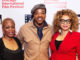 "Regina Taylor, Russell Hornsby (""The Hate You Give"") and Ruth Carter pose for photo during red carpet event. (Photos courtesy Cinema Chicago)"