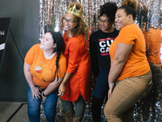 The Cupcake Collection owner Mignon Francois, 2nd left, and her staff. Photos by Kept Frozen Photography