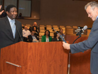 Dale V.C. Holness sworn in as Broward County mayor.