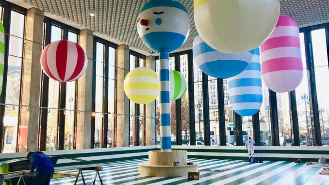 TheRainbow City Roller Rink will open November 30 at 1001 Woodward.Images courtesy of Library Street Collective