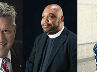 l-r; Bill Freeman, Honorary Chair; Bishop Marcus Campbell Candlelight Award Honoree and Monique Odom Candlelight Award Honoree
