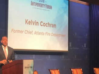 Using his own experiences with destitution, former Fire Chief of the Atlanta Fire Department, Kelvin Cochran, spoke at the anti-poverty forum, Nov. 15, at the Heritage Foundation in Washington, D.C.