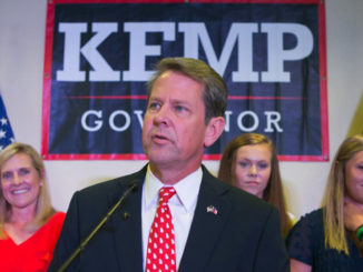 "Georgia's shotgun-toting, Trump-style Republican candidate for governor Brian Kemp has sought to assure voters that his state's election system is secure and that any allegations to the contrary are ""fake news."