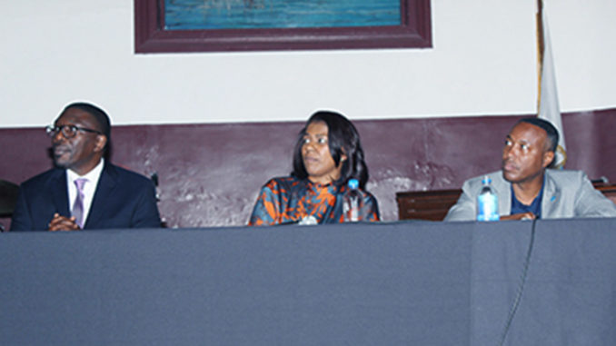 l-r; Dr. Shawn Joseph, Metro Schools Director; Dr. Sharon Gentry, Metro Nashville Public School Board Chair; and Dr. Kevin Rome, President, Fisk University