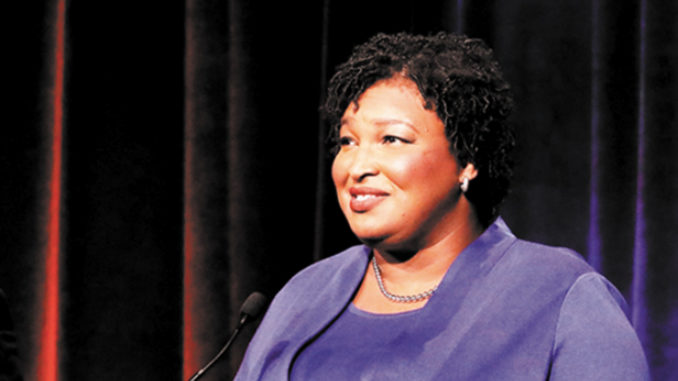 Georgia Democratic gubernatorial candidate Stacey Abrams