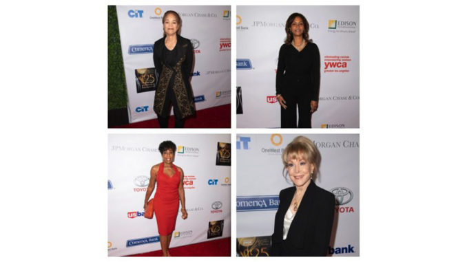 (Top Row, L-R): Civil rights lawyer and honoree, Constance L. Rice and Los Angeles World Airports CEO and honoree, Deborah Flint (Bottom Row, L-R): Actress, Dawnn Lewis and honoree, Barbara Eden