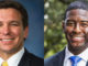 """Race was also a factor in the first debate, when Tallahassee Mayor, Andrew Gillum confronted Representative Ron DeSantis about his earlier """"monkey it up"""" comment."""