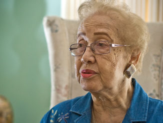 Katherine Johnson's work at NASA's Langley Research Center spanned 1953 to 1986 and included calculating the trajectory of the early space launches. (Photo: NASA Sean Smith / Wikimedia Commons)