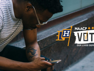 Through the campaign, volunteers will download a mobile app and chat with voters to get out the vote, with hopes of reaching 600K infrequent Black American voters, during this critical election period. (Photo: NAACP)