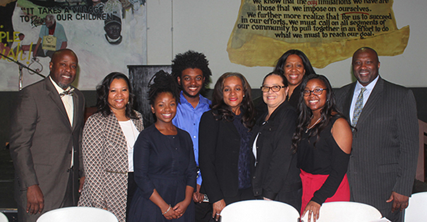 ESSA Houston Black Parents' Town Hall participants – Larry McKinzie, Monica Riley, Lynette Monroe, Treyvon Waddy, Rhonda Skillern-Jones, Dr. Elizabeth Primas, Forward Times Publisher/CEO Karen Carter Richards, Chirelle Riley and Jeffrey L. Boney