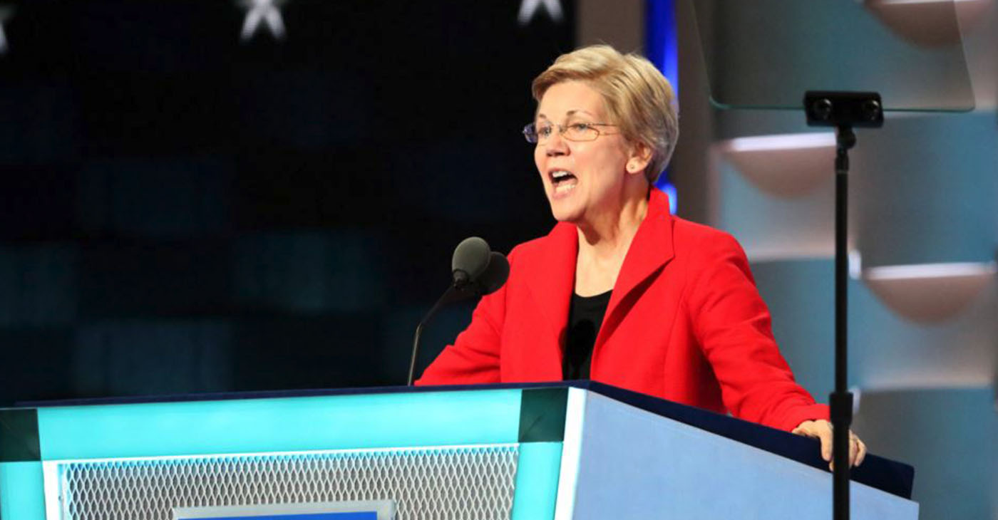 Sen. Warren speaking at the 2016 Democratic National Convention