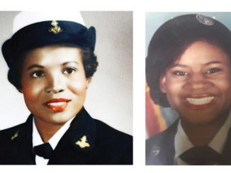 l-r; Mrs. Rosetta Miller Perry, Navy and Ms. June, Air Force