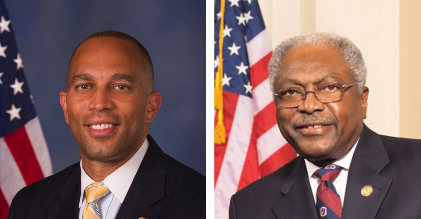 (l-r) Hakeem Jeffries (D-NY-08), James E. Clyburn (D-SC-06)