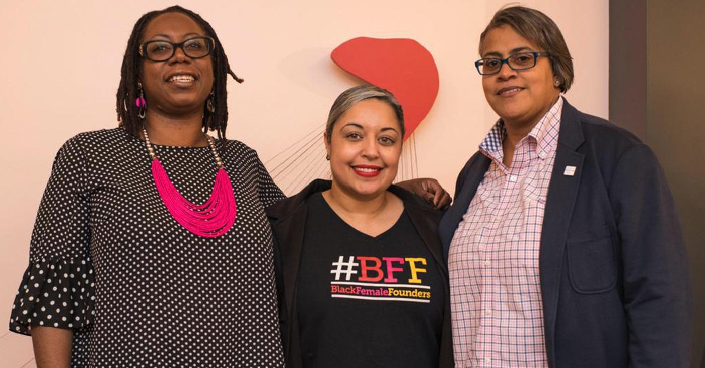 #BFF Founders Sibyl Edwards, Erin Horne McKinney and Melissa L. Bradley.