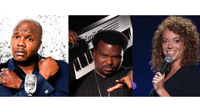 (l-r) Earthquake, Craig Robinson and Michelle Wolf